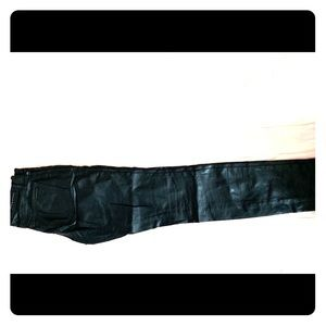 Gently used leather look pants